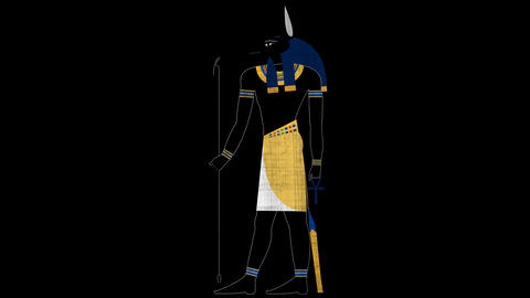 Egyptian God of Death Anubis in Alpha Channel Live Action
