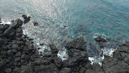 Coast with basalt rocks, Jeju island, South Korea, Asia ภาพวิดีโอ