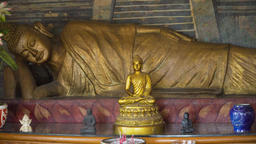 Buda statue in the temple island of Bali Footage