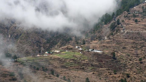 View On The Village On The Hillside With Terraces (#3) Footage