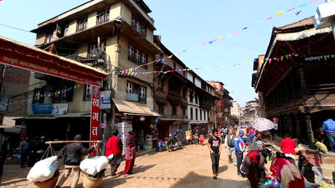 On The Nepalese Town Street Filmmaterial
