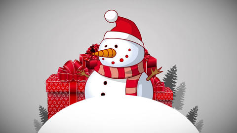 Happy Holidays Red Greeting Card Animation