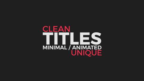 14 Simple Titles 3 - Modern Premiere Pro Template