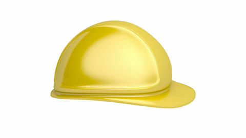 Yellow safety helmet CG動画素材
