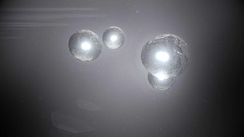 Video of grey light balls Animation
