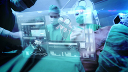 Doctors using latest technology Footage