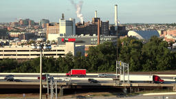 USA Maryland Baltimore Interstate 95 and Domino Sugar Factory 画像