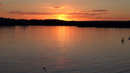 USA Maryland Baltimore dreamlike sunset in the Chesapeake Bay Footage