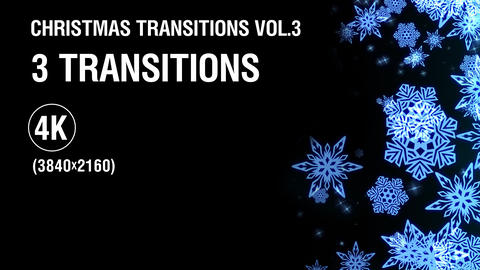 3-in-1 (4K) Christmas Snowflakes Transitions vol.3 - gold ビデオ