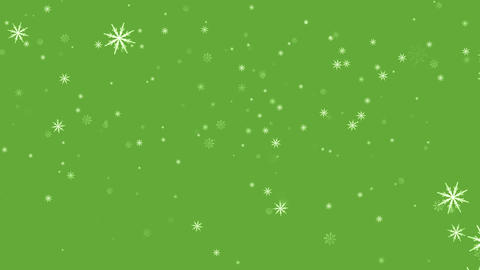 Snowflakes background green Animation