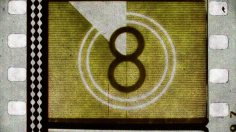 Colorful film reel countdown Footage