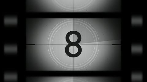 Silent film countdown Footage