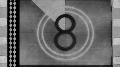 Old film reel countdown Footage
