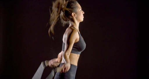 Woamn Jumping Rope Fitness Footage