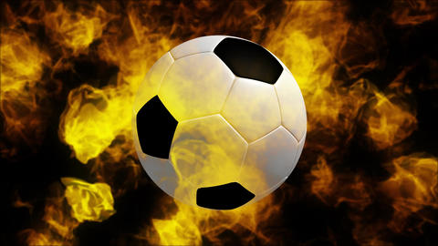 Soccerball on fire Live Action