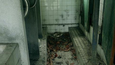 Bathroom of abandoned building Footage
