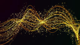 Abstract particle wave animation background Animation