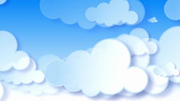 Lovely three-dimensional cloud animation background CG動画素材