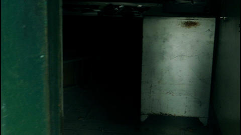 Look into room and whip abandoned building Footage