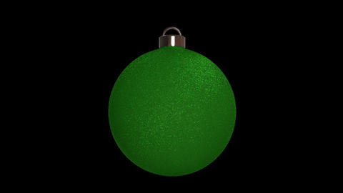 Ornament round green Animation