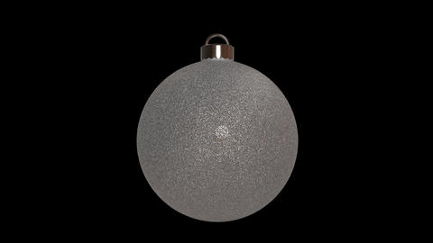 Ornament round silver Animation