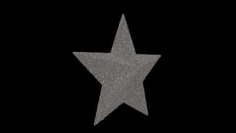 Ornament star silver Animation