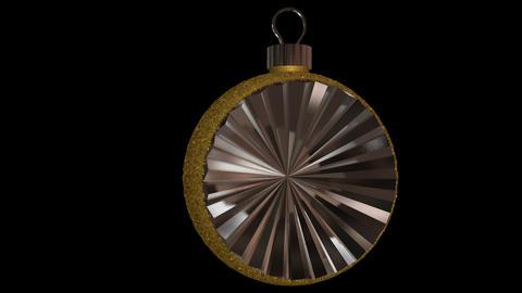Ornament semi round gold Animation
