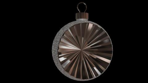 Ornament semi round silver Animation