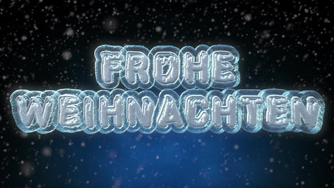 Merry Christmas 3D Text Looping Animation in German Language Footage