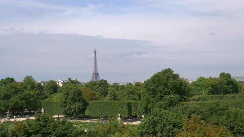 Aerial view on Eiffel Tower in Paris in 4k Footage