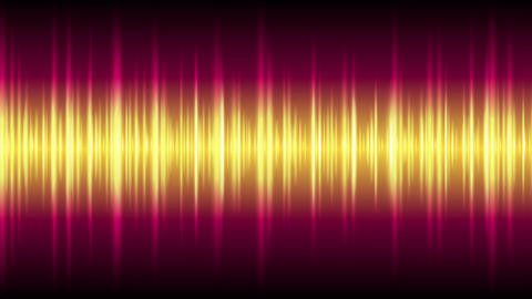 Bright glowing tech waveform equalizer video animation Animation