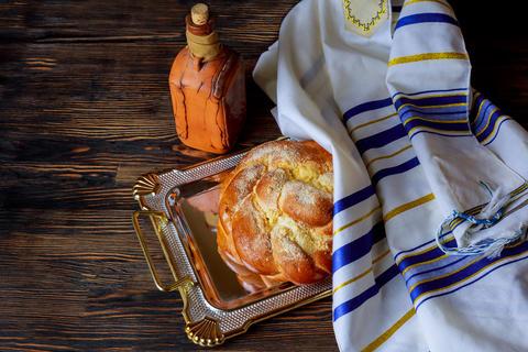Shabbat eve table jewish holiday celebration Photo