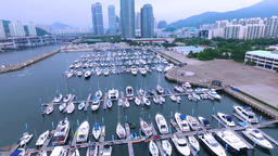 Many Yachts at Suyoung Bay Boat Stadium, Busan , South Korea, Asia Footage