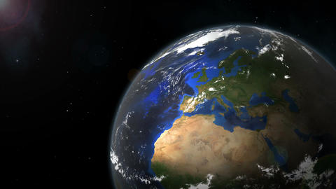 Earth Rotation Close-up Animation