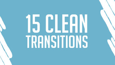15 Clean Transitions Motion Graphics Template