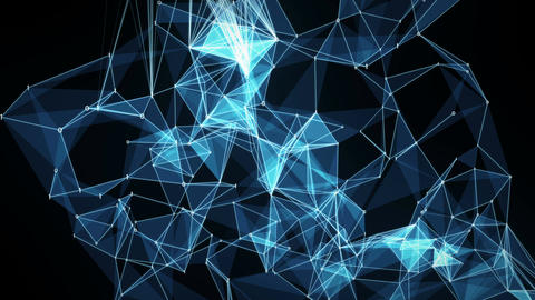 Abstract Motion Background - Digital Binary Polygon Plexus Data Networks Image