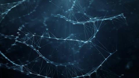 Abstract Motion Background - Digital Random Digits Plexus Data Networks Animation