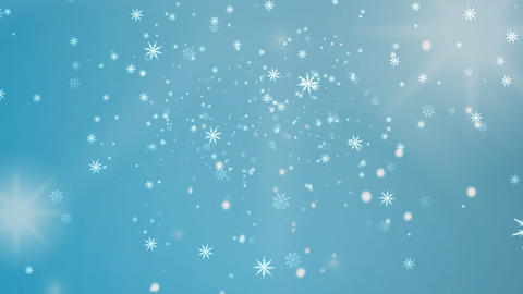 Falling Snowflakes CG動画素材