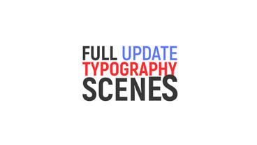 Stylish Kinetic Typography 5$ After Effects Template
