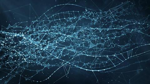 Abstract Motion Background - Digital Plexus Data Networks Animation
