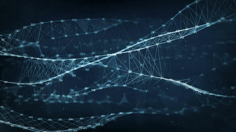 Abstract Motion Background - Digital Random Digits Plexus Data Networks Animation