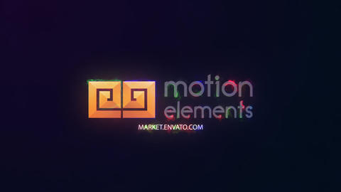 Electric Glitch Logo After Effects Template