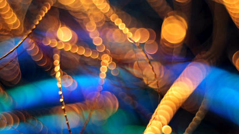 Abstract blurred Christmas background Footage