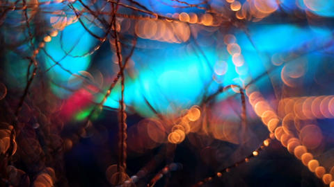 Abstract blurred Christmas background ビデオ