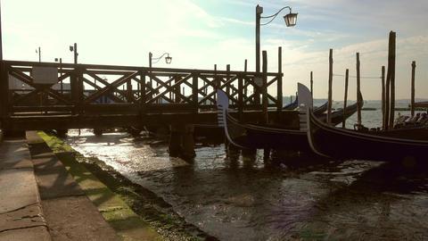 Gondolas on Canal Grande, San Marco, Venice Footage