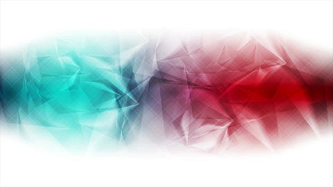 Red and turquoise glossy polygonal video animation Animation