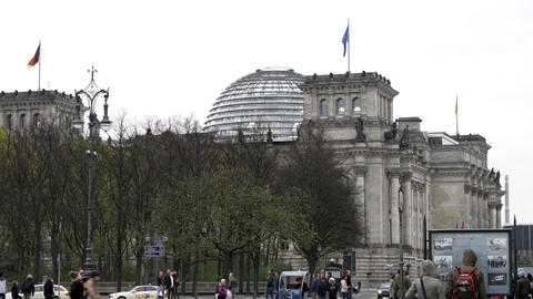 German Bundestag Reichstags Parlament building in Berlin Footage