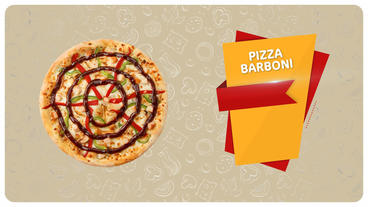 Pizza menu Plantilla de After Effects