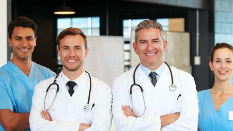 Medical Team standing together Footage