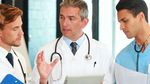 A Medical Team Standing Together stock footage
